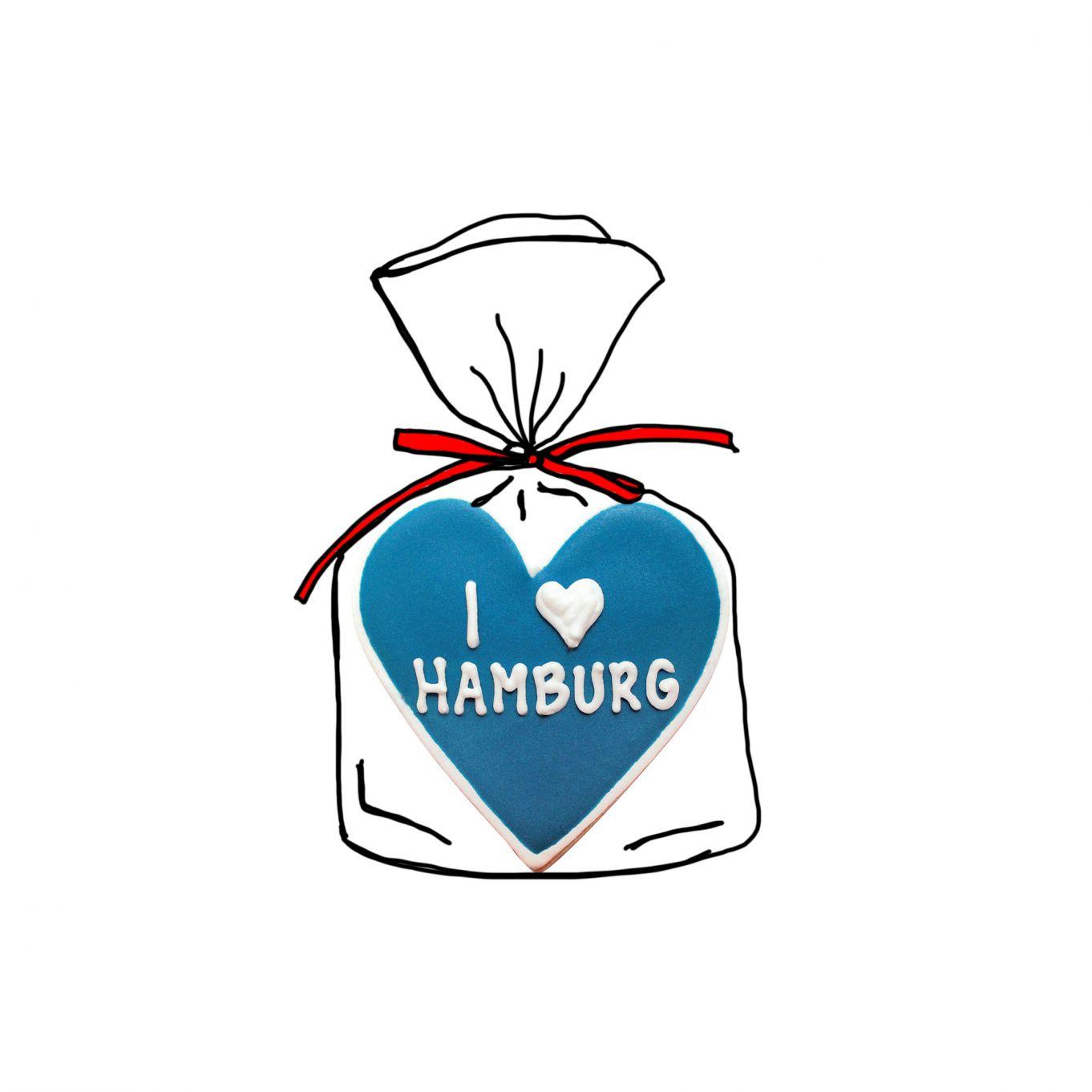 "Keks Herz ""I heart Hamburg"""