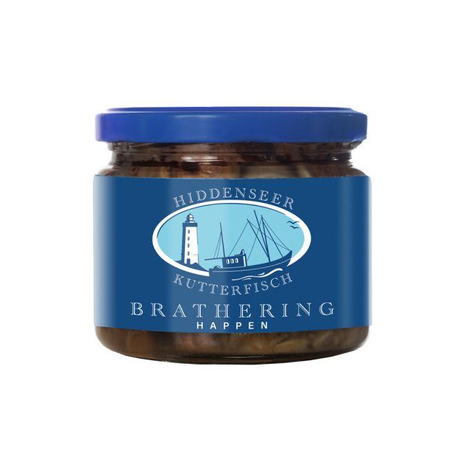 Bratheringhappen im Glas