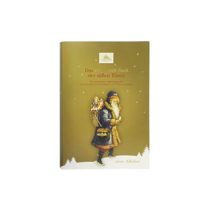 Adventskalender Buch gold